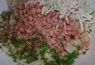 Bramborovo-šunkový květák se sýrem