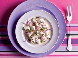 Ceviche, ryby marinované v citrusové šťávě
