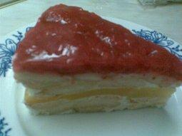 Piškotový nepečený dort