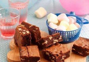 Čokoládové brownies s marshmallows