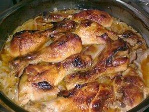 Pečené kuře - Medová kuřecí stehna
