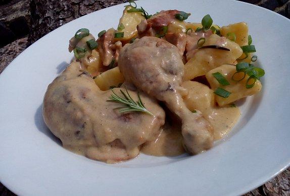 Smetanové kuře pečené (nejen) s bramborem photo-0
