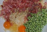 Sýrové karbanátky (nejen) s hráškem