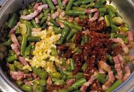 Kroupový salát s fazolkami