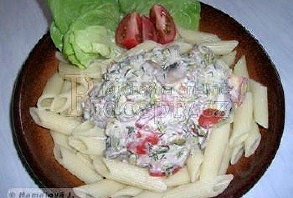 Těstoviny s koprem