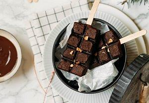 Čokoládové brownies s ořechy