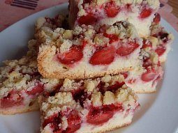 Jednoduchý jahodový koláč II.