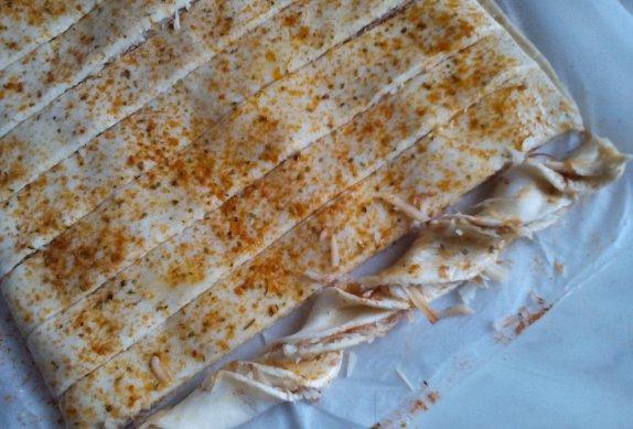 Kořeněné sýrové tyčinky