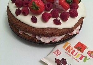 Jahodovo-malinový dortík s Pedro Frujty