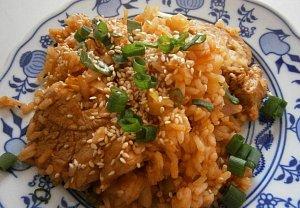 Pikantní vepřové se smaženou rýží