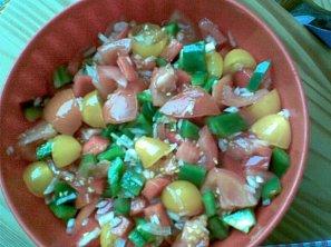 Rajčatovo-paprikový salát
