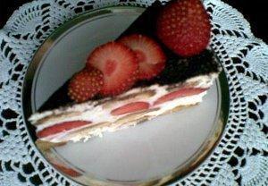 Nepečený ovocný dort s vaječným likérem
