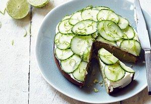 Limetkový dort s okurkou