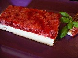 Smetanový dort s grepovým želé