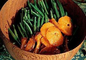 Fazolky s pikantním mandarinkovým přelivem