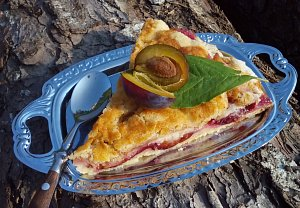 Sypaný ovocný koláč (nejen) z remosky