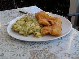 Filé s bramborovo - fazolovou kaší