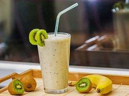 Smothie-Kiwi a banán