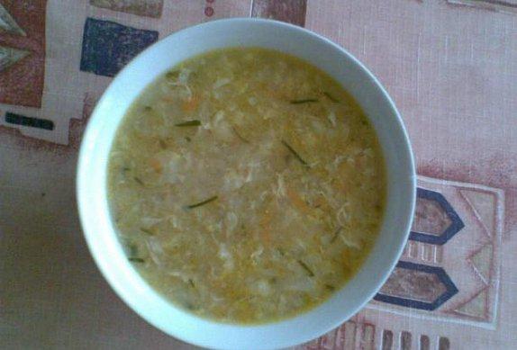 Kedlubnová krupicová polévka photo-0