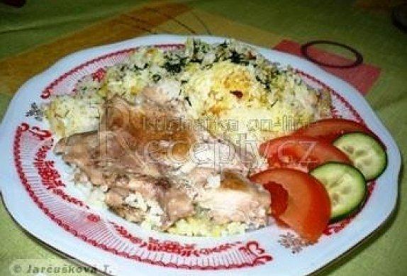 Hovězí řízky s rýží