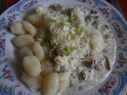 Kuřecí na houbách pro začínající kuchaře