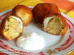 Smažená plněná vejce