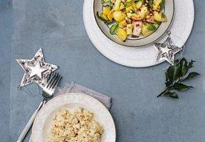 Bramborový salát se slaninou a špenátem