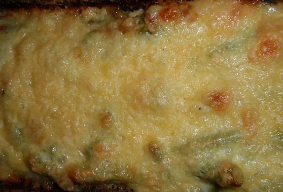Fazolky se slaninou a sýrem - zapékané