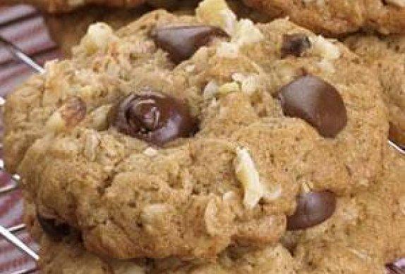 Ovesné sušenky s jablky a čokoládou