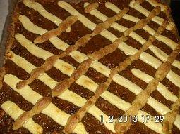 Mřížkový dýňový koláč