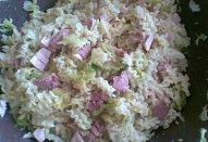 Kapustové těstoviny s uzeným
