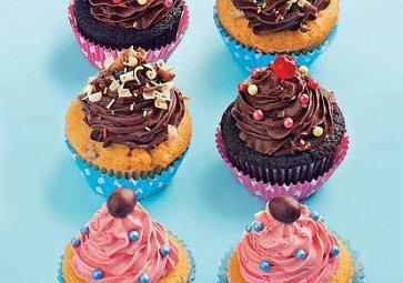 Čokoládové cupcakes s krémem