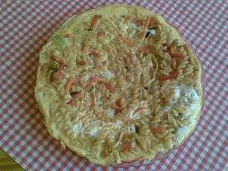Těstovinovo-zeleninová omeleta