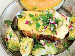 Sýrový toast s nakládanou zeleninou