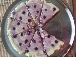 Tvarohový cheesecake s borůvkami