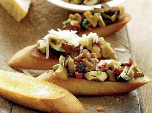 Chlebíčky s houbami