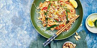 Thajské rýžové nudle Pad Thai