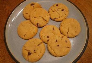 Měkké sušenky s čokoládou