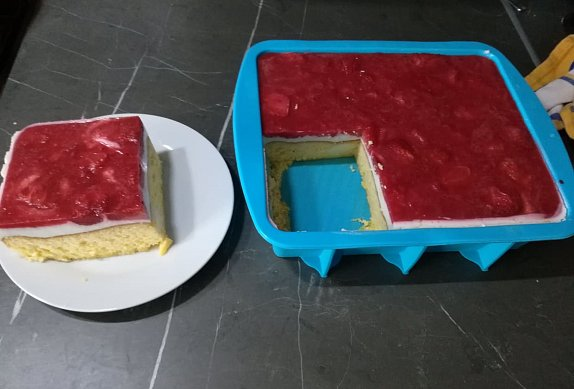Lehký tvarohový koláč bez mouky ( i cukru)
