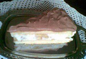 Banánový dort s kakaovou šlehačkou