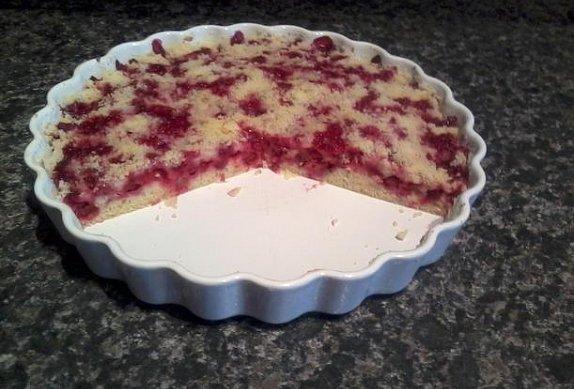 Ovocný koláč s drobenkou bez kynutí