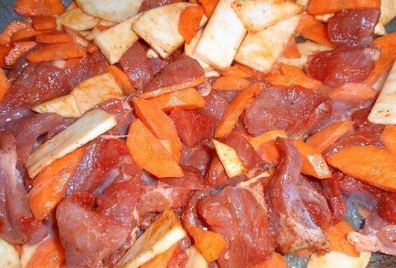 Tandoori masová směs s kořenovou zeleninou