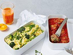 Masové koule s bulgurem a zeleninou