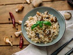 Houbové měšce s rýží nebo s brambory