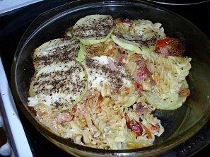 Zapékané těstoviny s cuketou