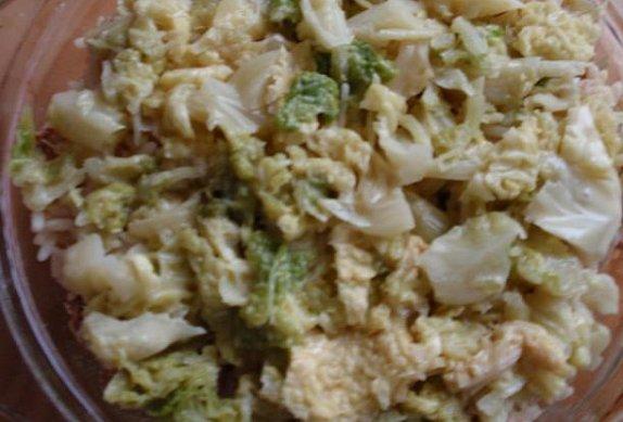 Kapusta s masem a rýží - zapečená