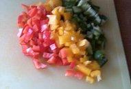 Rajčatová polévka s paprikami