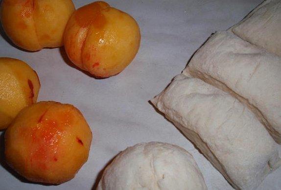 Broskvové knedlíky - bez vajec