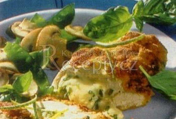 Kuřecí prsa plněná bylinkovým sýrem