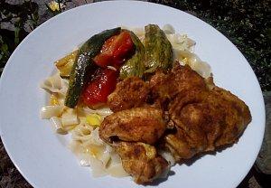Cuketové kari kuře (nejen z remosky)